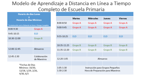 DL Spanish Schedule