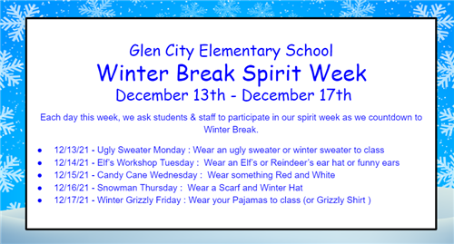 Winter Spirit Week English