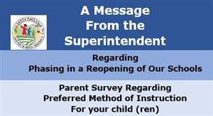 A message from the Supt