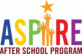 image reads ASPIRE, After School Program three hands reaching fr a star
