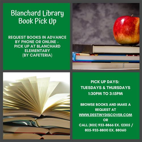 Blanchard Book Pick up