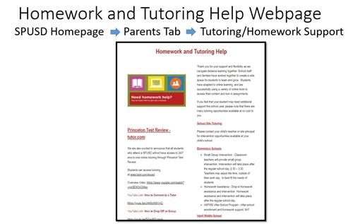 Homework & Tutoring Help Webpage